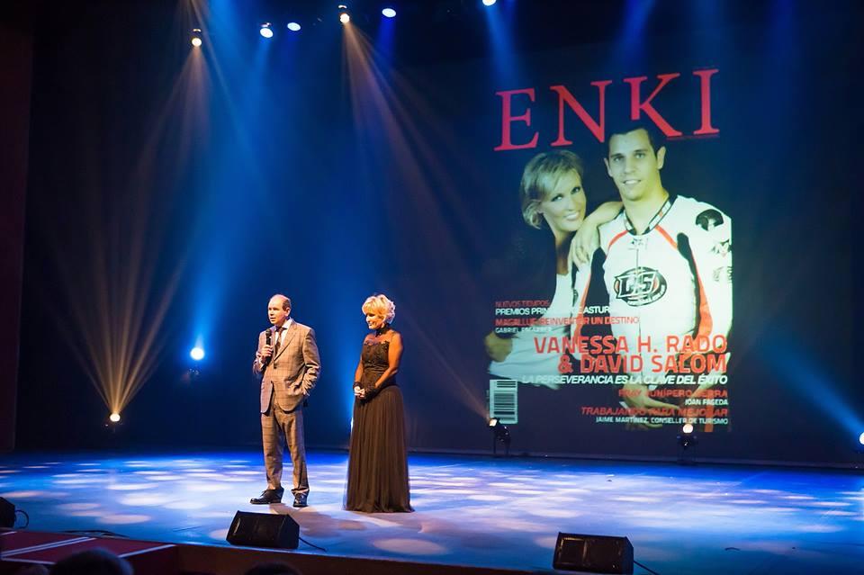Con el director de la revista Enki, José García Peñalver